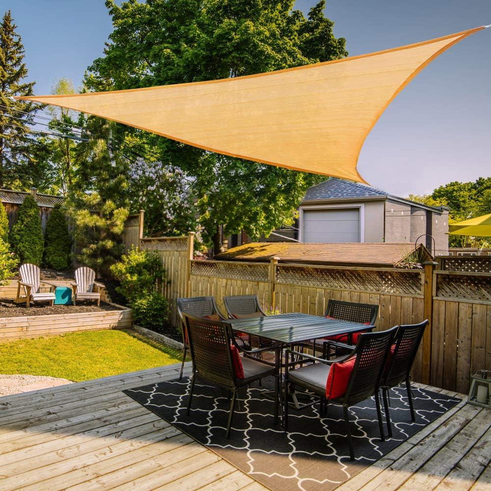piscine Vela per ombrellone Rettangolo 3 m /× 4 m colore sabbia chiaro Vela per parasole 185 GSM Cortili per attivit/à allaperto protezione UV 97/% e tasso di ombreggiatura 90/% prati giardini