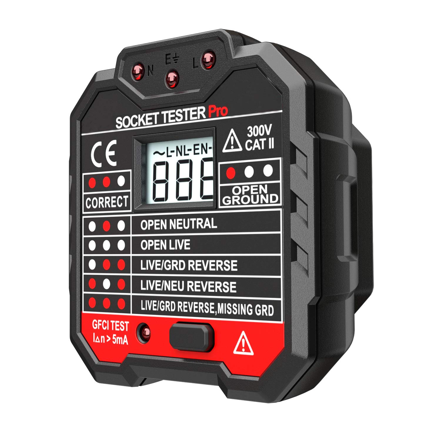 Protmex Voltage Tester Non-Contact with LED Flashlight + GFCI Outlet Tester Power Socket Tester