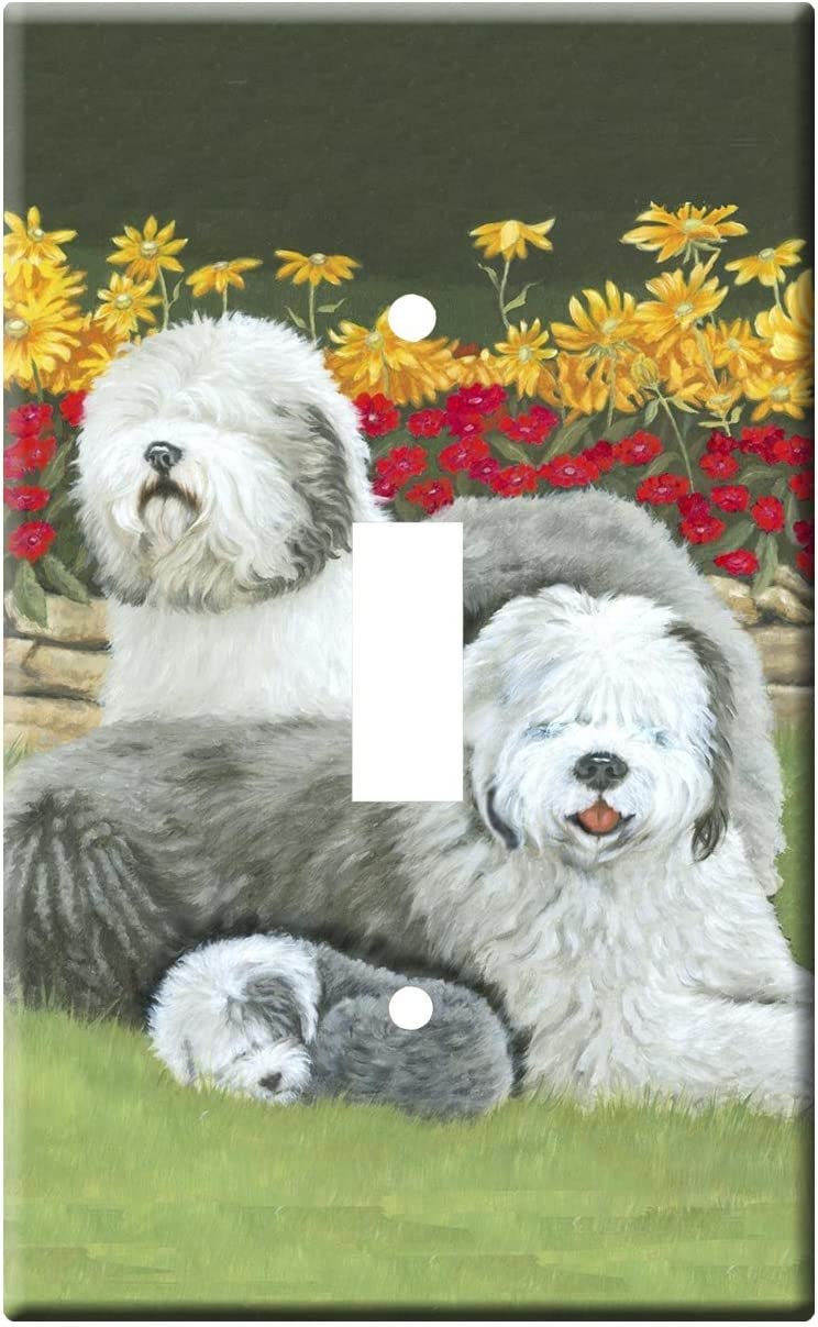 Gone Doggin Old English Sheepdog 4a Single Toggle Light Switch Plate Metal Wall Plate Oes Dog Art Home Kitchen Amazon Com