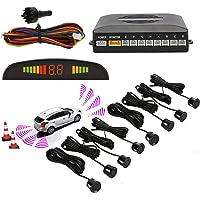 Sensores de aparcamiento,OSAN LED Kits de Detector de Radar Marcha y Atras con 8