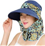 Protezione per il sole con visiera ampia e risvoltata UPF 50+ Protezione solare con protezione per il collo