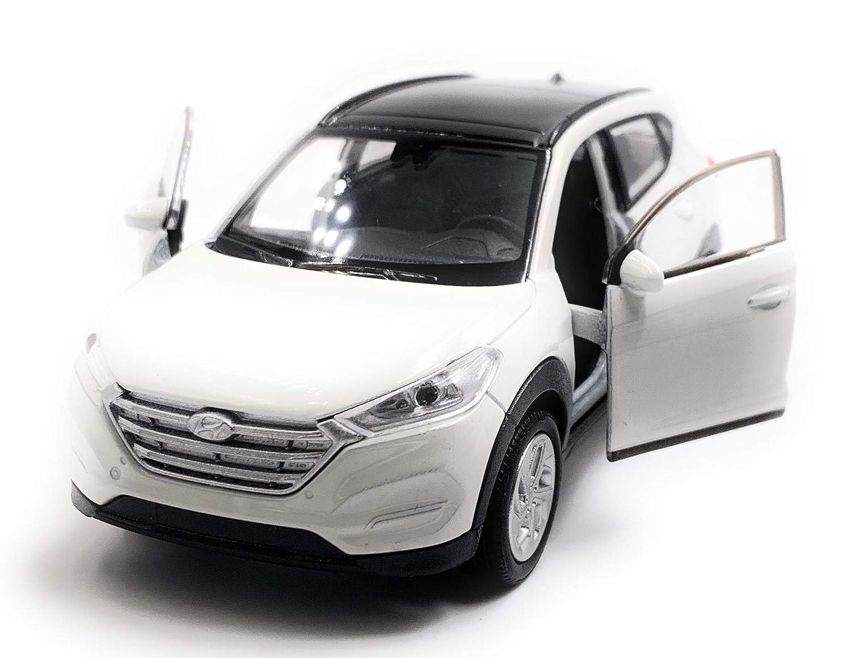 Onlineworld2013 Hyundai Tucson SUV Color Aleatorio con Licencia Model Car Auto Scale 1:34
