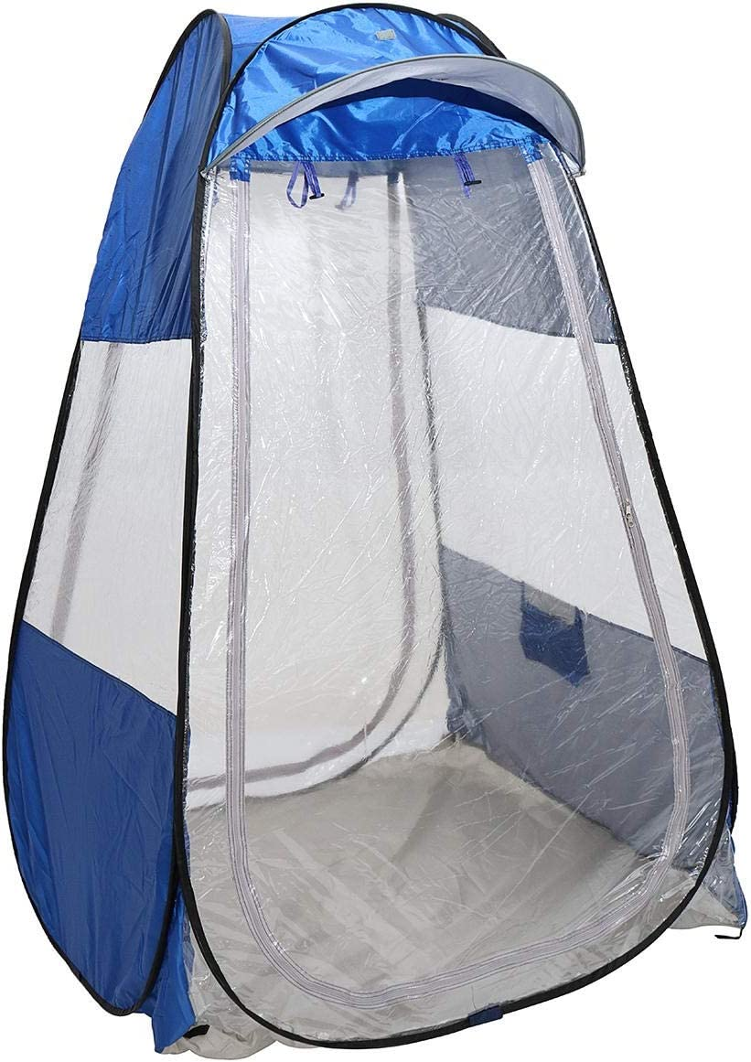 AL Aire Libre Techo de sombrilla Refugio de Camping al Aire Libre Individual Pop-up Carpa Impermeable Anti-UV (Color : Camouflage) Blue
