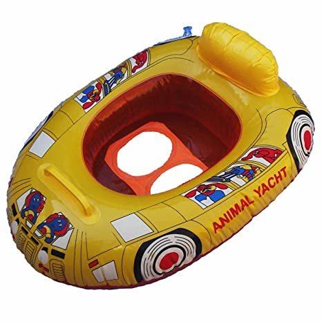 Bebés natación barco flotador 0-2 años (pez amarillo)