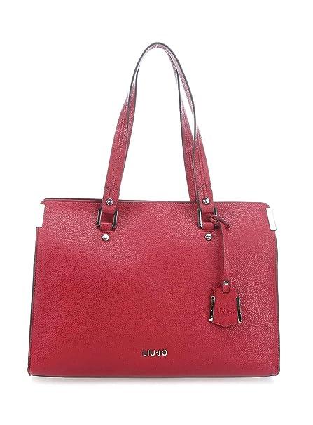 LIU JO N68011 E0033 Borsa spalla Donna Rosso TU  Amazon.it  Abbigliamento 48d5c57679b