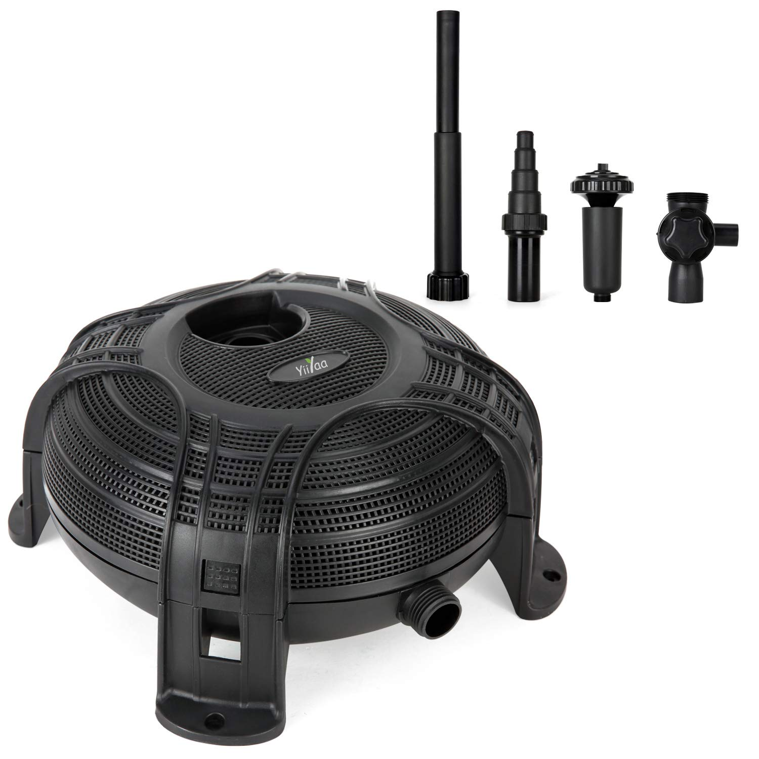 Upgraded Amphibious Submersible Water Pump 1500GPH 90W with Dry Burning Prevention Function 7.6m Long Power Cord , Nozzles for Aquarium Fish,Tank,Fountain,Pond,Hydroponics,used in or out of water