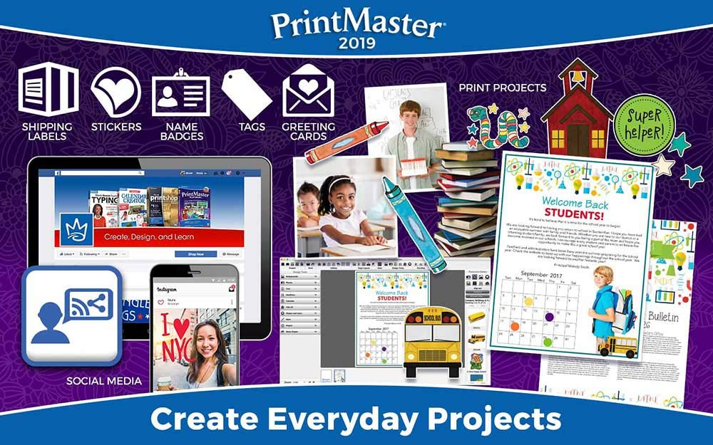 Printmaster 2019 - Design Software for At Home Print Projects [PC Download] by Encore Software, LLC