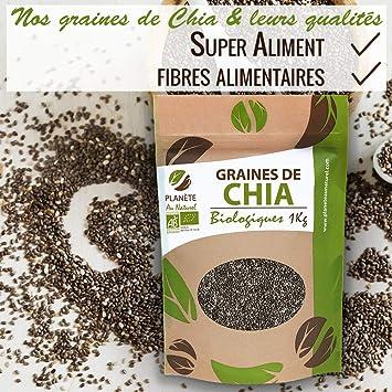 Semillas orgánicas de chía (Salvia Hispanica) - 1 kg: Amazon.es ...