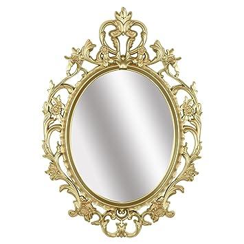 Simmer Stone Mijoter Pierre Dore Ovale Vintage Miroir Mural Glamour