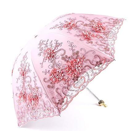 Paraguas de Mujer Paraguas de la Mujer Plegable Paraguas de ...