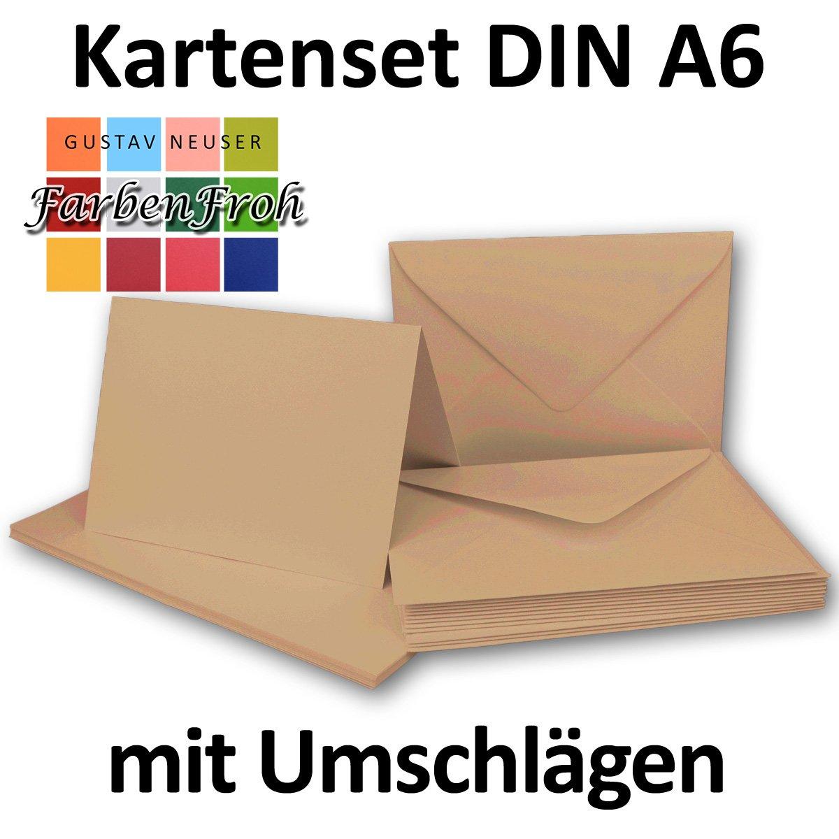 Faltkarten Set mit Brief-Umschlägen DIN DIN DIN A6   C6 in Rosanrot   100 Sets   14,8 x 10,5 cm   Premium Qualität   Serie FarbenFroh® B076H2YST8   Hohe Qualität Und Geringen Overhead  9e1f31