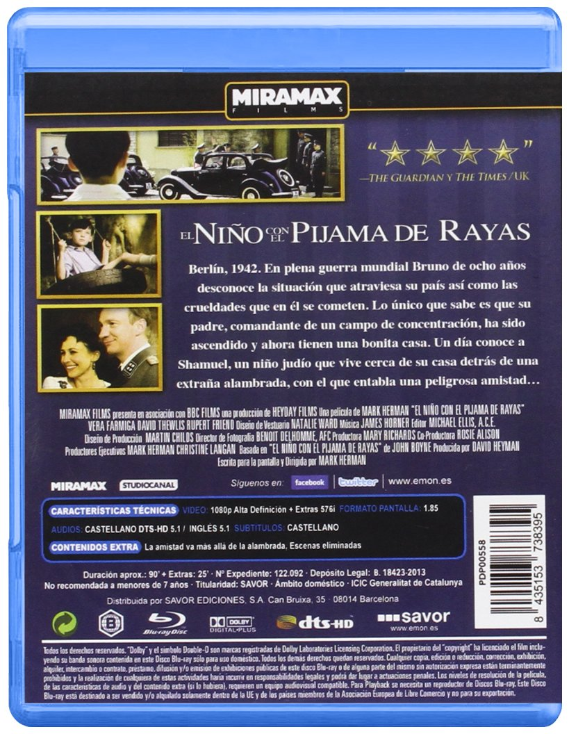 Amazon.com: El Niño Con El Pijama De Rayas (Blu-Ray) (Import Movie) (European Format - Zone B2) (2011) Asa Butterfield; Za: Movies & TV