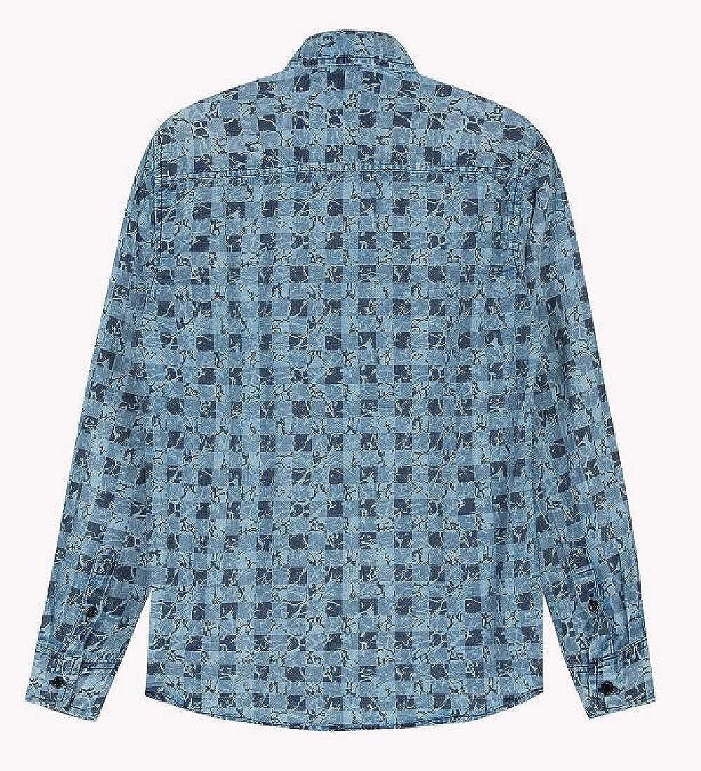 GenericMen Slim Fit Casual Plaid Shirt Long Sleeve Button Down Shirts