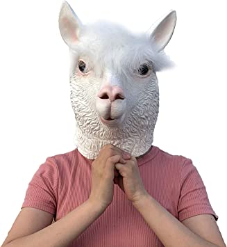 ifkoo Cow Mask Latex Halloween Costume Party Animal Head Mask