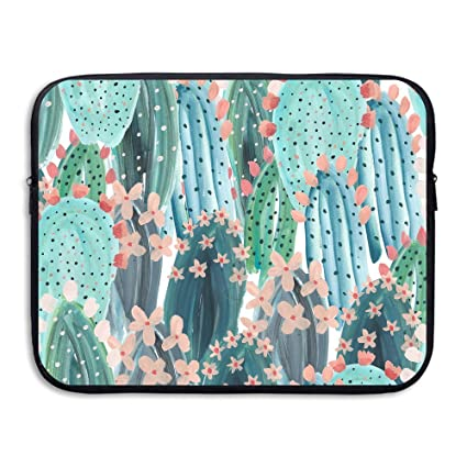 15af71c5cb5d Amazon.com: Business Briefcase Sleeve Colored Cactus Laptop Sleeve ...