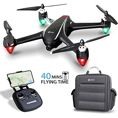 Contixo F18 Plus 2K FPV RC Drone with Camera for Adults - 40 Mins Longer Flight Time Quadcopter with Brushless Motor - Beginners Drone for Kids - 5G WiFi - Follow Me -2 Module Batteries with Backpack: Toys & Games