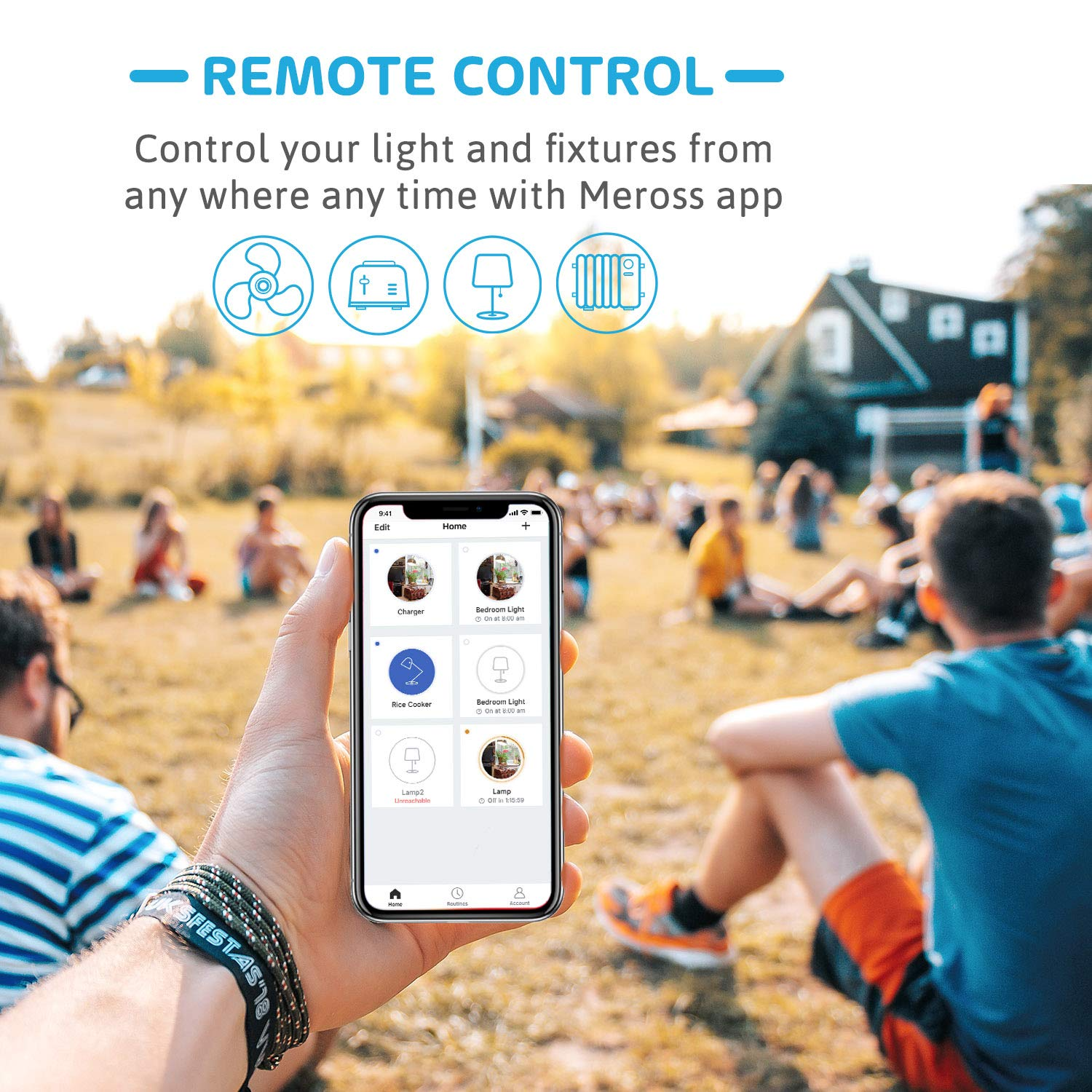 No Hub Needed Smart Plug - 2Pack Timer Function App Control Appliances meross WiFi Smart Plug Mini Alexa and Google Voice Control Occupies Only One Socket FCC and ETL Complied