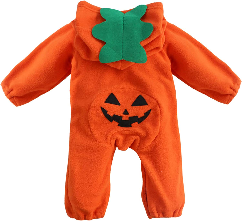 Freebily Disfraz Beb/é Ni/ños de Duende Diablo Calabaza de Fiesta Halloween Carnaval Mameluco Monos con Capucha Oto/ño Invierno Pelele de Dormir Recien Nacidos