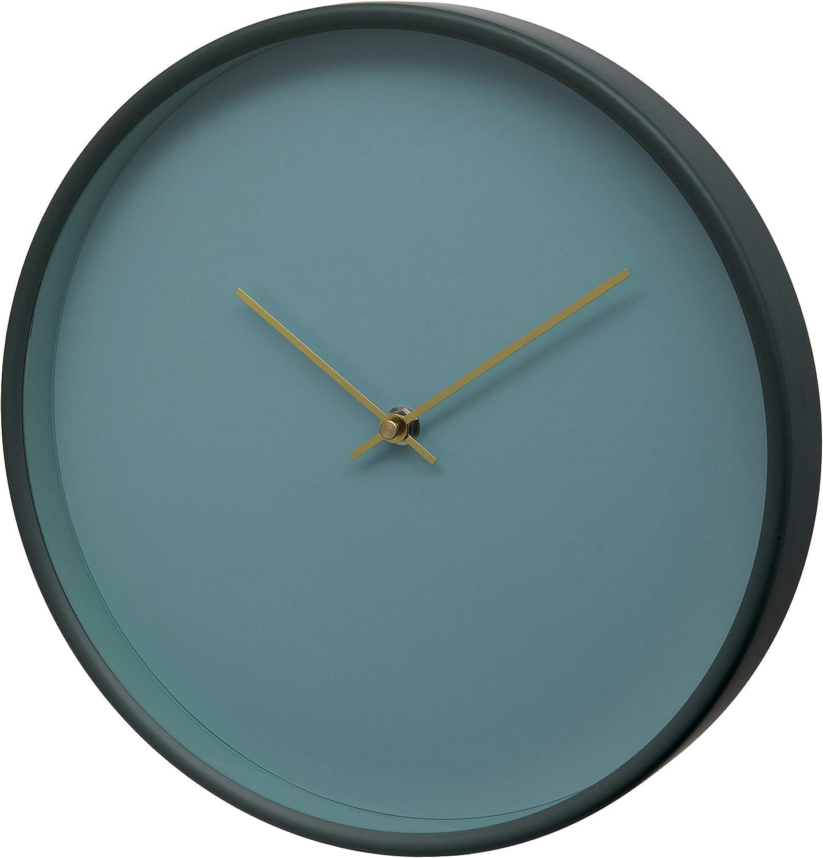 Unity Bristol-Reloj de Pared con Esfera Transparente, 30 cm, Verde