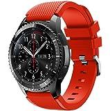 Für Samsung Gear S3 Frontier,Amcool Luxus Sport Einstellbar Bunt Soft Silikon Armband Strap Bands Armbänder