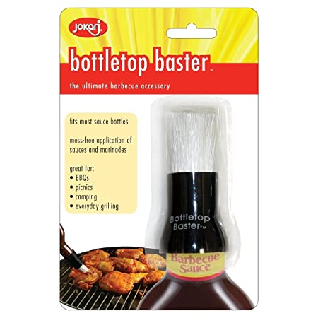 Fits Most Bottles Jokari Mess-Free Bottletop BBQ Sauce Meat Basting Brush