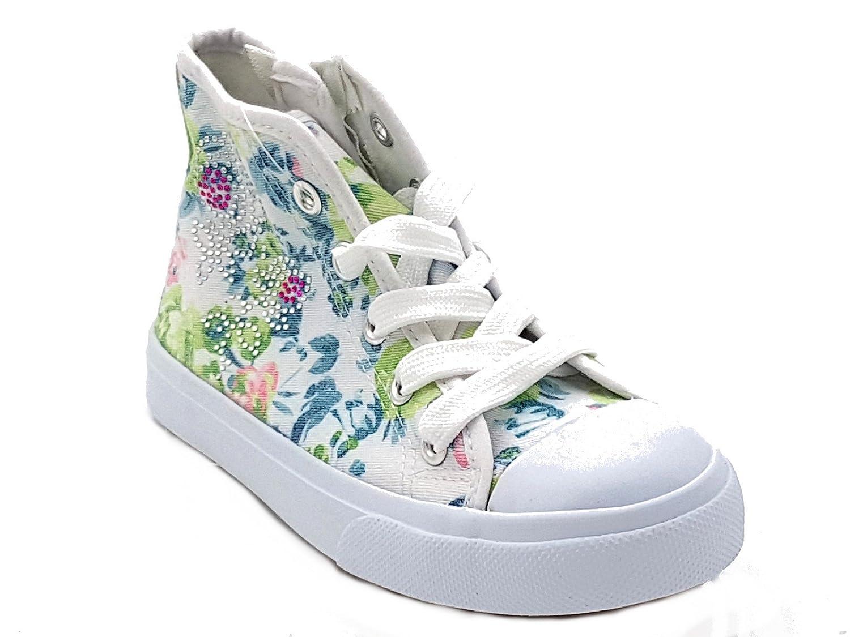 giardino d oro Shoes scarpe bimba bambina primaverili estive sportive da  ginnastica casual comode modello simile al stars con lacci e cerniera  colore bianca ... af72254bd5a