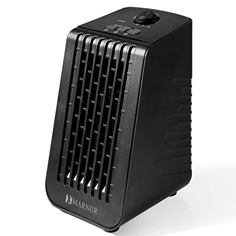 MARNUR Small Space Heater Electric Heater for Home and Office and Bedroom  with Overheat Protection Tip-Over Protection Switch Adjustable Thermostat 2  ...