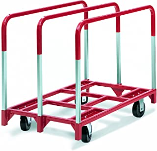 "product image for Raymond 3860 Steel Panel Mover with 3 Standard Upright and 6"" x 2"" Phenolic Caster, 2400 lbs Capacity, 41"" Length x 32"" Width x 9"" Height"