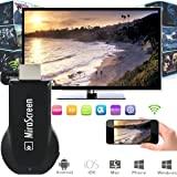 MiraScreen Dongle 1080P Adaptateur d'affichage HDMI WiFi, Support DLNA MiraCast Compatible AirPlay (iPhone, iPad, Mac), Installation gratuite (pas d'APP, pas de pilote) TV Dongle