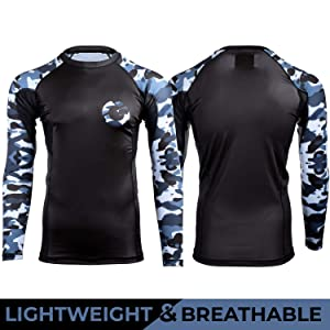 Best Women's BJJ Rash Guards - Gold BJJ Jiu Jitsu Rashguard - Camo Long Sleeve Rash Guard Compression Shirt for No-Gi, Gi, MMA