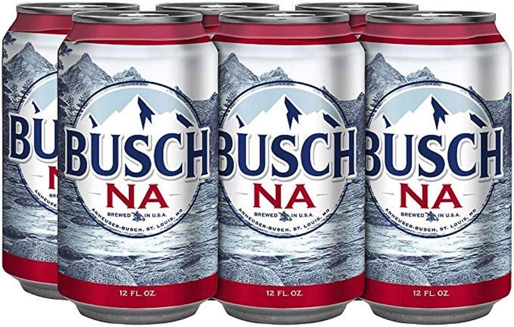 Busch NA Non Alcoholic Beer 12 oz Can -- 6 Pack