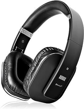 August EP650–Auriculares Bluetooth Inalámbrico–Auriculares Diadema Casco Plegable Sonido Estéreo Bass Rich Auriculares Orejeras Cómodas con NFC y
