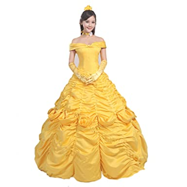 Lanrui Beauty and the Beast Prinzessin Belle Dress Abend Kleid ...