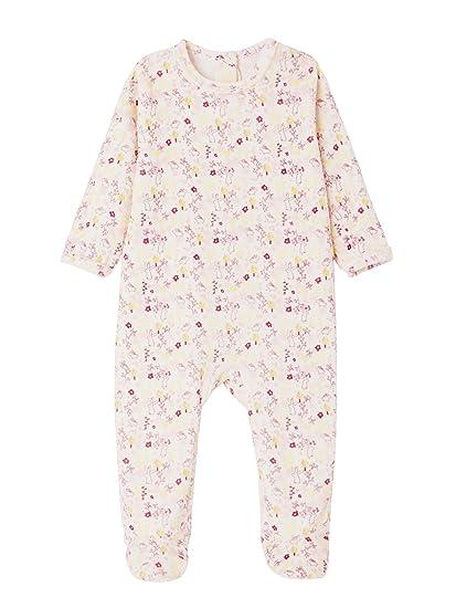 VERTBAUDET Lote de 2 pijamas de terciopelo para bebé con automáticos detrás Lote Marfil 3M -