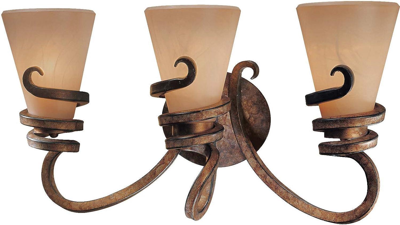 Minka Lavery Wall Light Fixtures 6763-211 Tofino Reversible Glass Bath Vanity Lighting, 3 Light, 300 Watts, Bronze