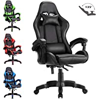 Advwin Executive Office Computer Gaming Chair Racer Recliner Chair Racing Seating Black(60 * 60 * 115-125cm)