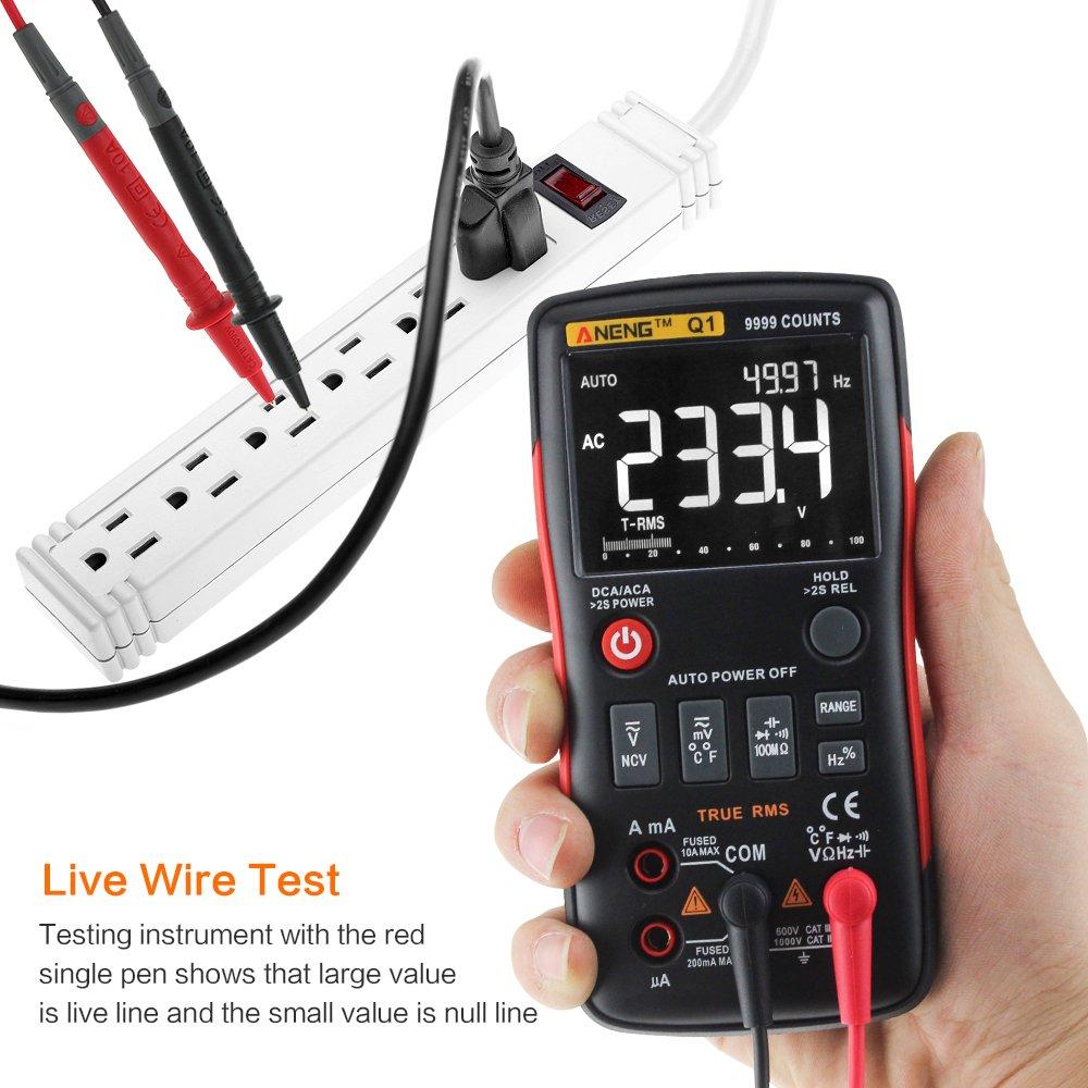 Digital Multimeter 4everhope Aneng Q1 Electrical Tester True Rms Buy Circuit Testerelectrical Testerac Dc Voltage 9999 Counts Ac Voltmeter Ammeter Ohmmeter Ncv Detector Resistance