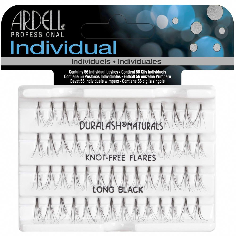Ardell Duralash Individual Eyelashes Knot Free Naturals Long Black (6 Pack)