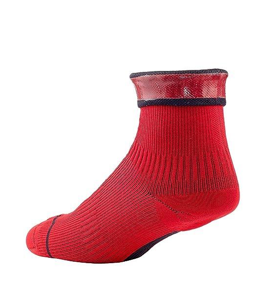 SealSkinz 111162060040 Calcetines Impermeables Unisex, Rojo/Negro, FR: XL (Talla Fabricante: XL): Amazon.es: Deportes y aire libre