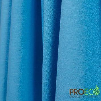 2f67e41acfa Amazon.com: ProECO Bamboo Organic Cotton Jersey Fabric (Aqua, Made in USA,  sold by the yard): Baby