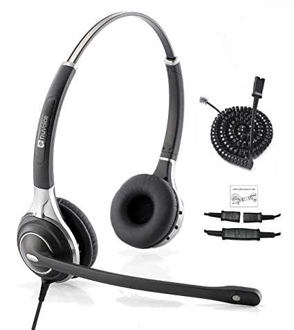 Premium Double Ear Ultra Noise Canceling Call Center/Office Headset &  Adapter for All Cisco 6000, 7800 and 8000 Series Phones and Also Models  7931