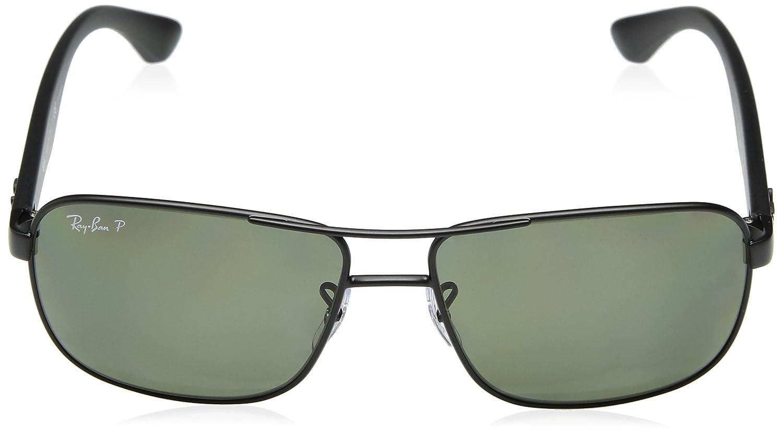 01d7a4e67f Amazon.com  Ray-Ban Polarized RB3516 Sunglasses - Matte Black Frame Green  Lens  Ray-Ban  Clothing