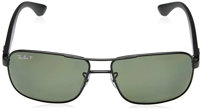758a6cb770 Amazon.com  Ray-Ban Polarized RB3516 Sunglasses - Matte Black Frame Green  Lens  Ray-Ban  Clothing