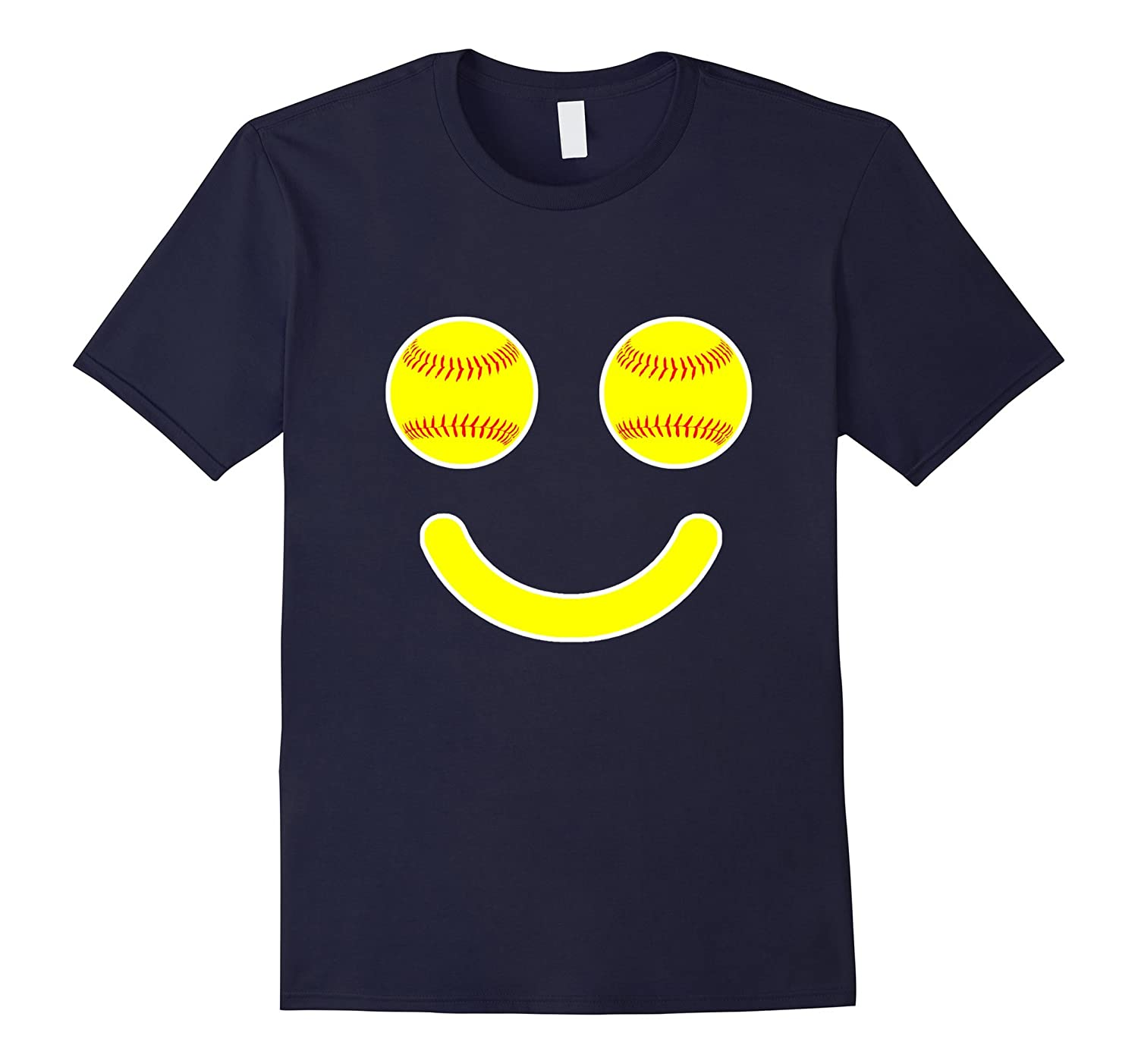 Softball Makes Me Smile | Funny Softball Mom or Player Shirt-Rose