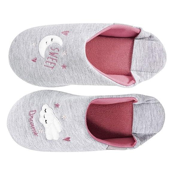 314e2a826846a Isotoner Chaussons Babouches Femme Broderie Nuage  Amazon.fr  Chaussures et  Sacs