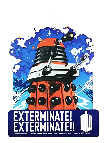 amazon com doctor who red dalek exterminate sticker toys games