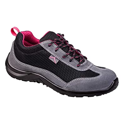 6e68aea7598 Delta Plus Como S1P SRC Ladies Suede Mesh Steel Toe Cap Safety Trainers  Shoes
