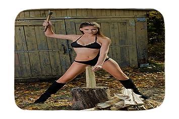 Cama Perro Diversión Sexy Hacker de madera impreso 40x60 cm: Amazon.es: Hogar