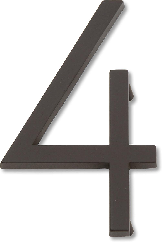 Atlas Homewares AVN4-O Modern Avalon 4.5-Inch No. 4 House Number, Aged Bronze
