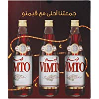 Vimto Fruit Cordial Syrup in Glass Bottle, 3 x 710 ml